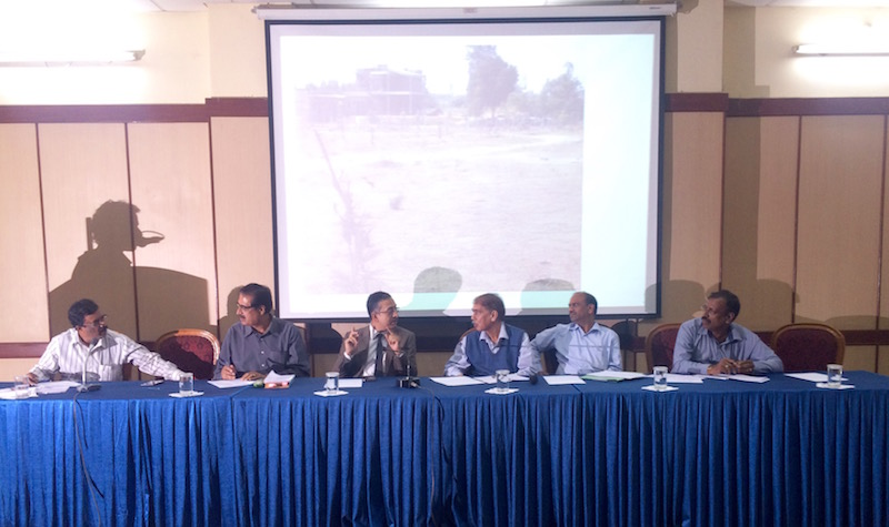 Forest, BBMP and Metro Officials on the dias
