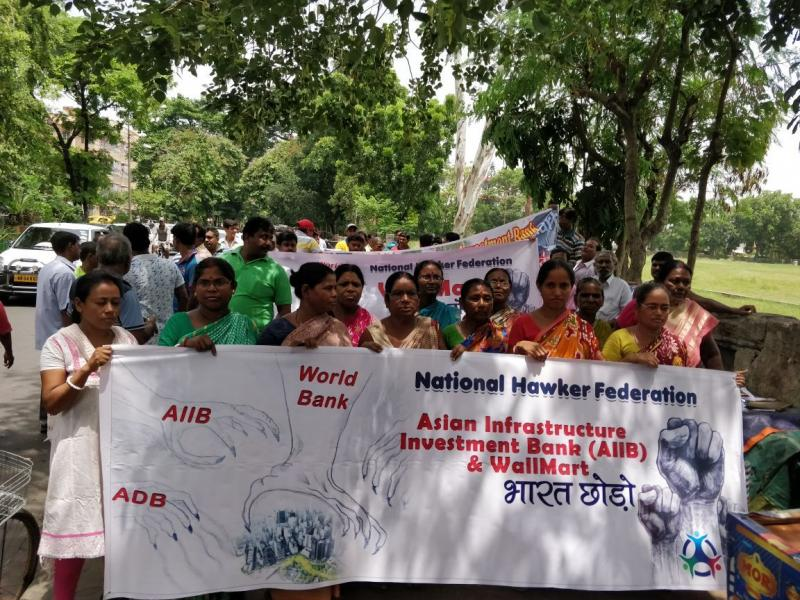 National Hawkers Federation Protest