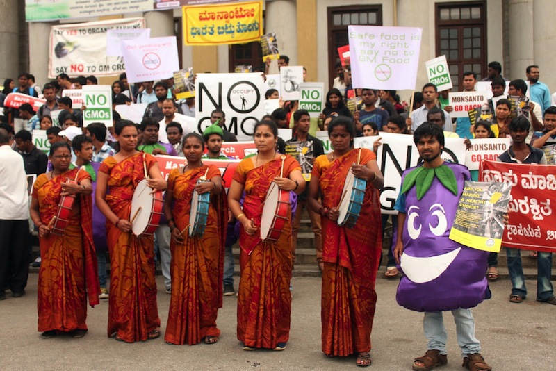 Street Theatre groups demand Monsanto Quit India