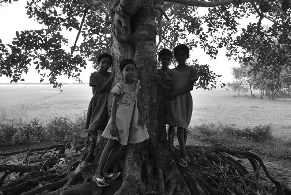Ersamma Girls under a Banyan Tree