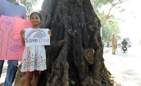 Girl with Save Tree poster