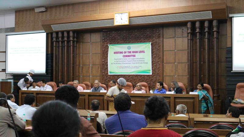 MoEF's High Level Committee interacting with Karnataka Government Officials