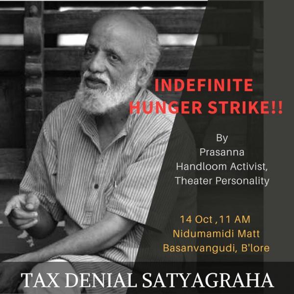prasanna hunger strike