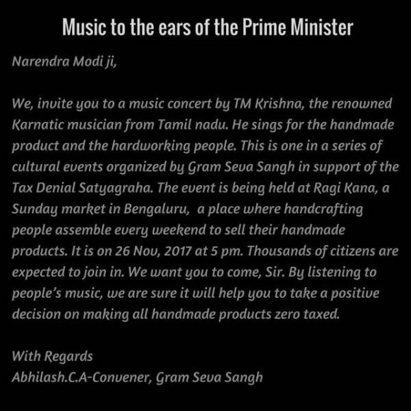 Invitation to Prime Minister