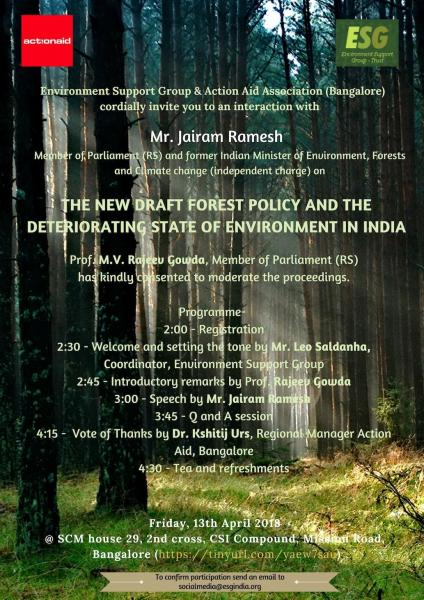 Jairam Ramesh speaks on Forest Policy