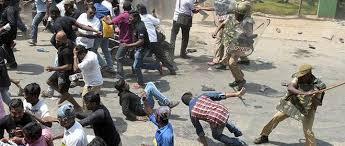 police lathi charge Vedanta Sterlite protestors
