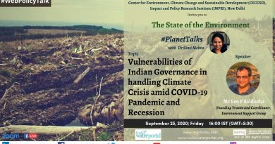 Vulnerabilities Of Indian Governance In Handling Climate Crisis Amid COVID-19 Pandemic And Recession