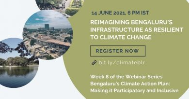 Week 8: Reimagining Bengaluru's Infrastructure As Resilient To Climate-Change